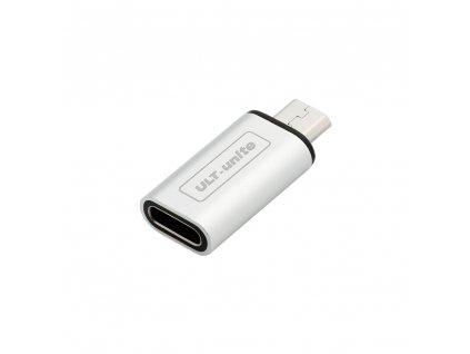 Micro USB to USB-C redukce, OTG, stříbrná