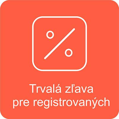 trvalá zľava po registrácii