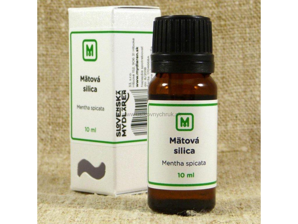 mätová spirmint silica esencialny olej