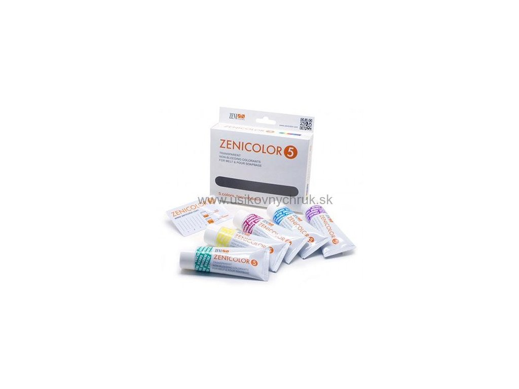 Farby do mydlovej hmoty ZENICOLOR 5