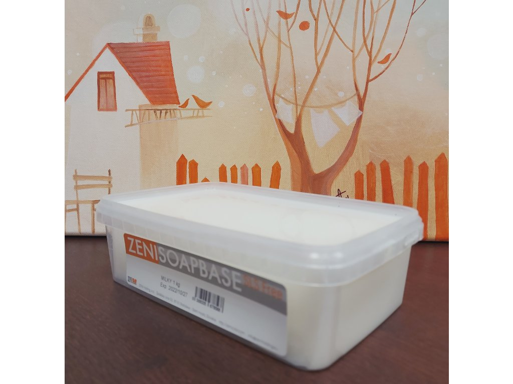 Biela mydlová hmota s kozím mliekom MILKY 1 kg
