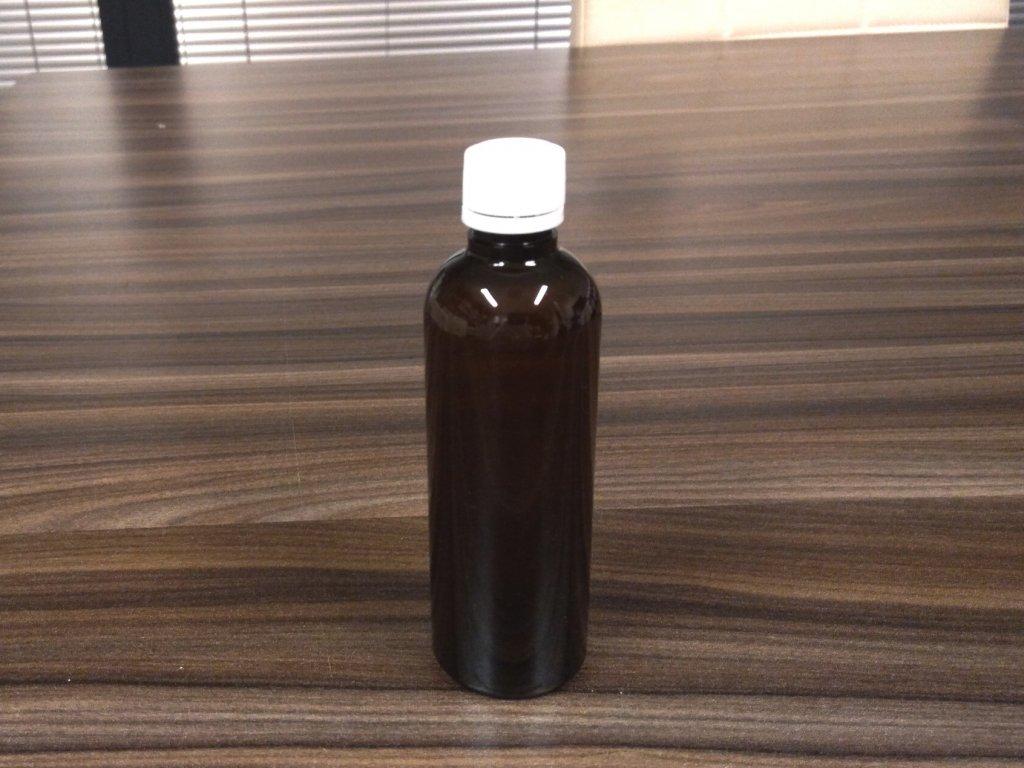 PET fľaška hnedá 100 ml