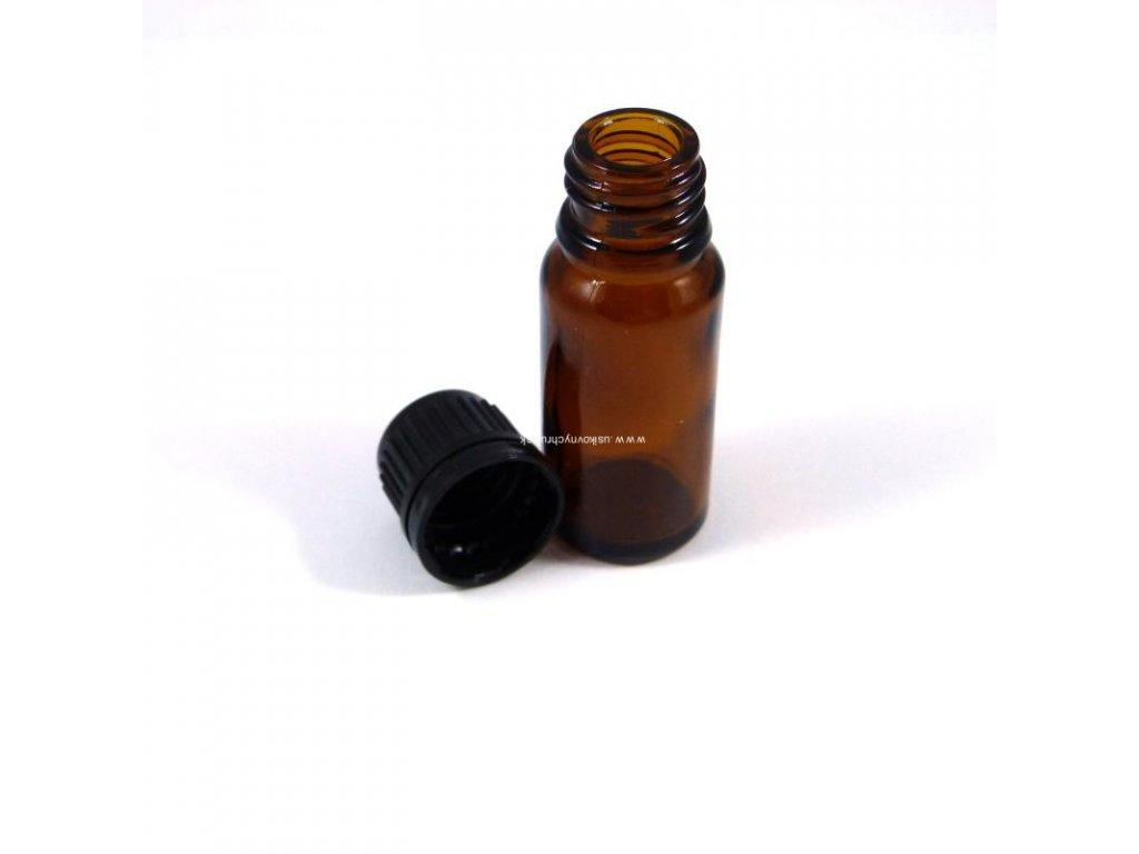 Sklenená flaštička hnedá 10 ml (vrátane uzáveru)