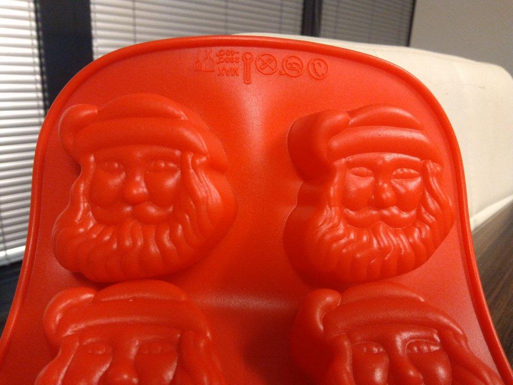 silikonova formana mydlo mikulas vianoce