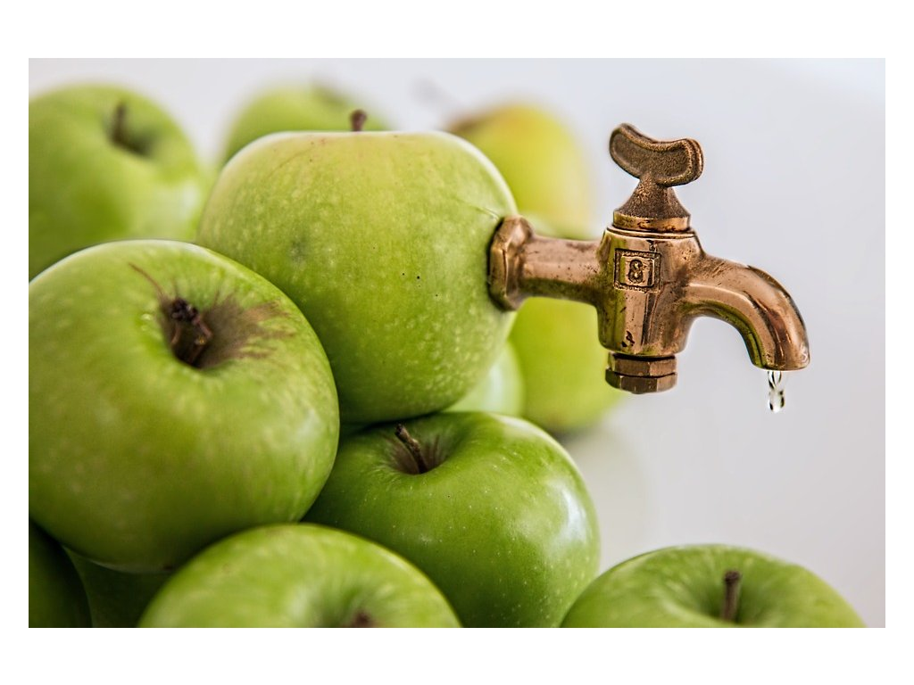 zelené jablcko