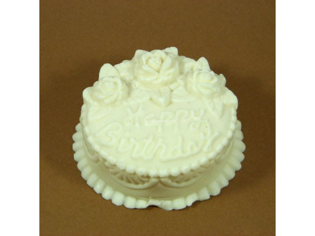 "Silikónová forma na mydlo ""Happy Birthday"""