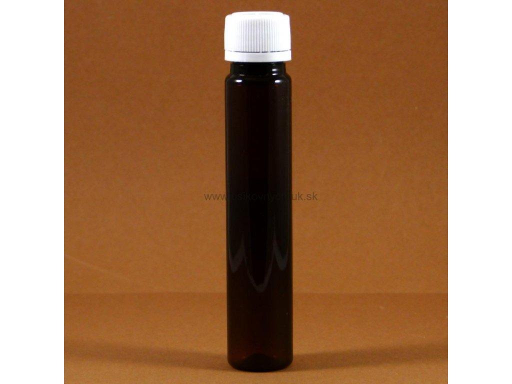 PET flaštička tmavohneda 25 ml
