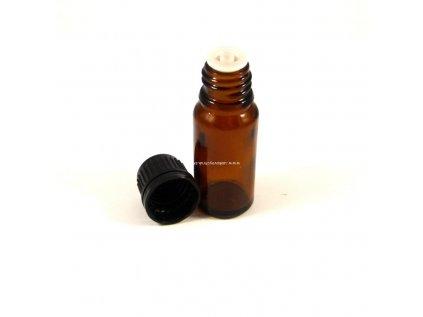 Sklenená flaštička hnedá 10ml (vrátane uzáveru a kapátka)