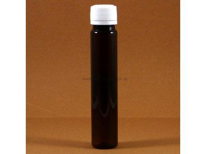 Plastová fľaška tmavohnedá s uzáverom 25 ml