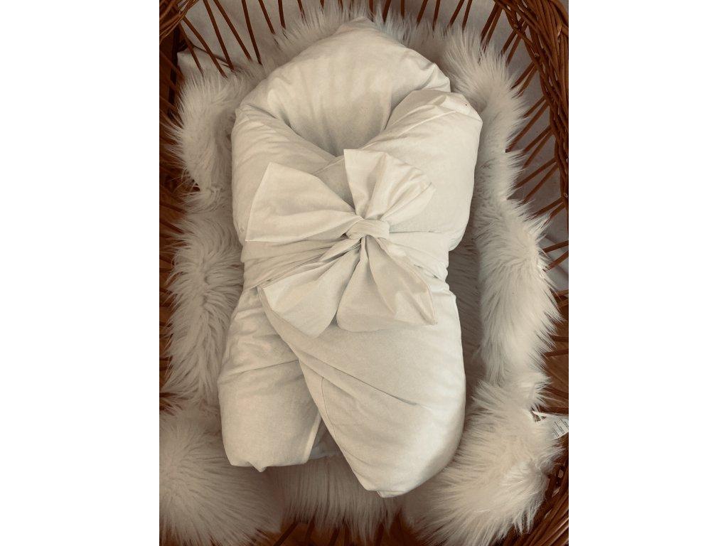 Zimní zavinovačka BÍLA bavlna