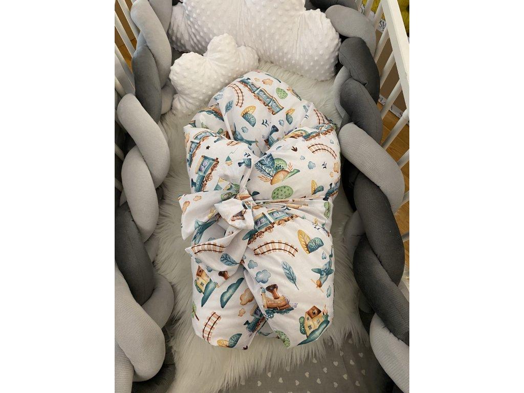 Zimní zavinovačka - premium bavlna MAŠINKY