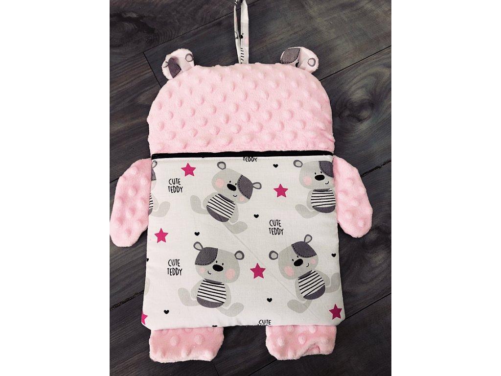 Pyžamožrout - růžový medvídek