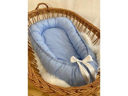HNÍZDEČKO - světle modrá bavlna