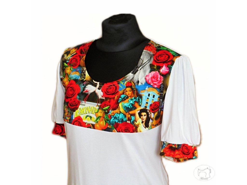 """Tričko s řas. rukávem """"Flamenco"""" vel. 44"""