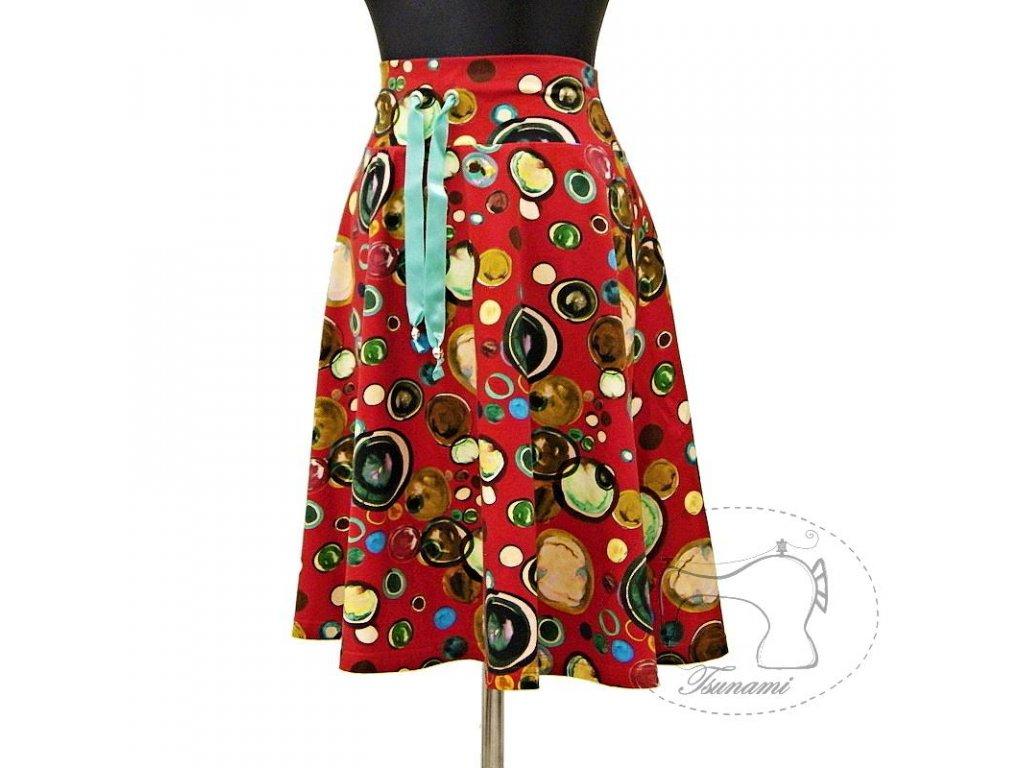 """Půlkolová sukně """"Bublinková"""" vel.44"""