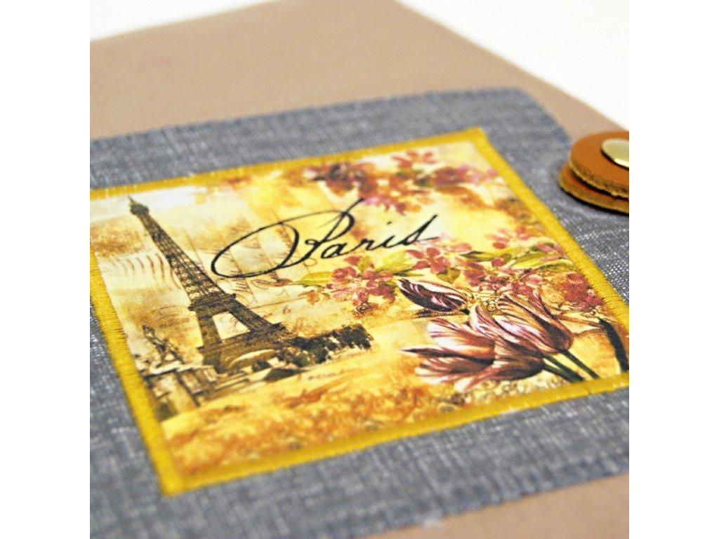 """Obal na knihu """"Paris"""" - zapínací"""