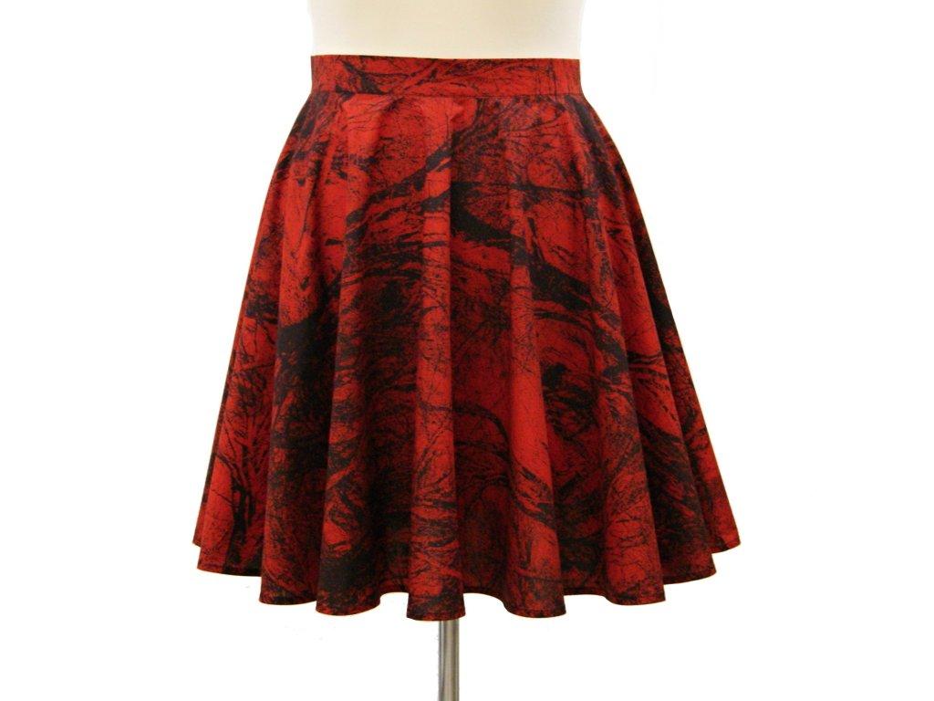"""Kolová sukně """"Black&Red"""" vel.44"""