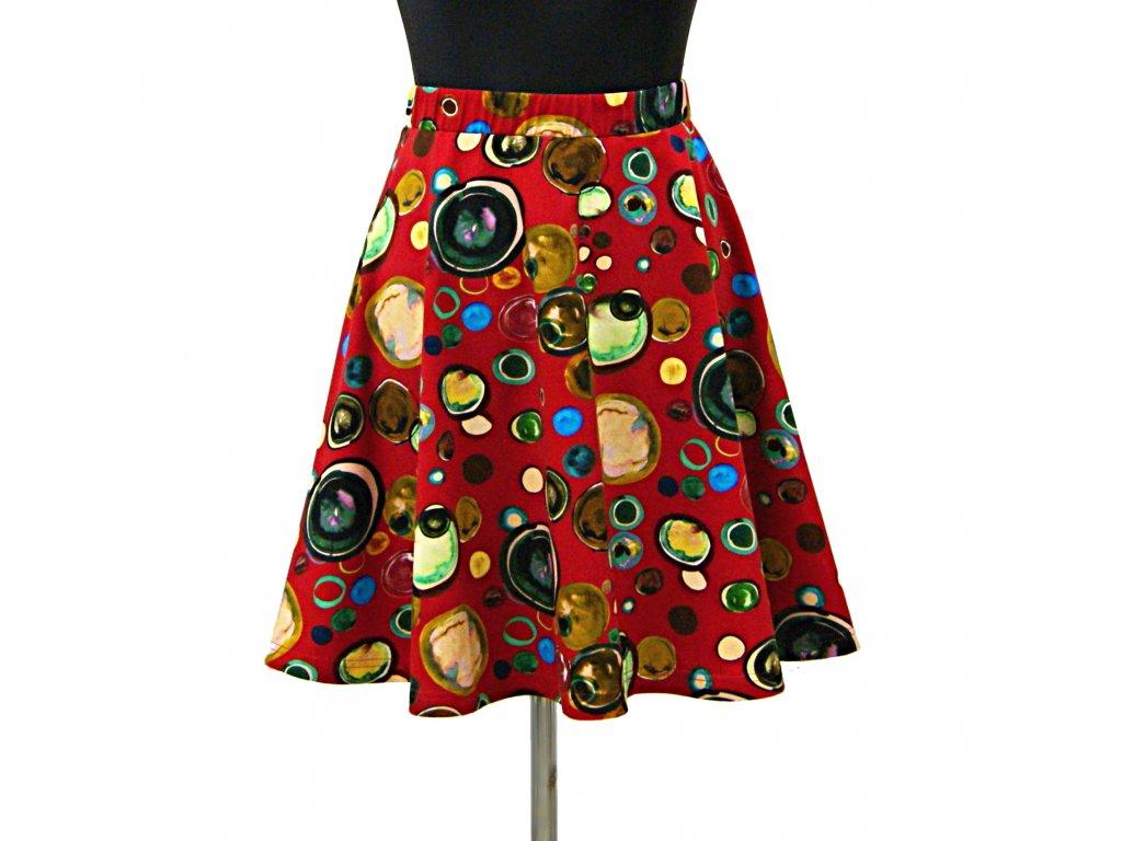 """Půlkolová sukně """"Bubbles"""" vel.40-44"""