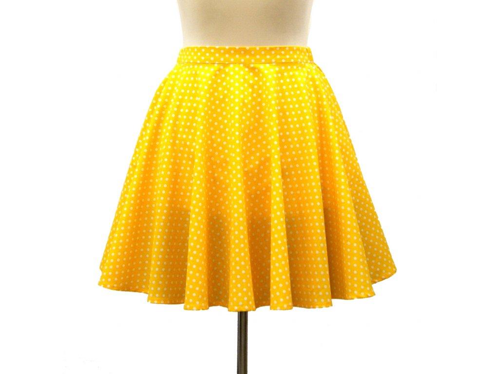 """Luxusní kolová sukně """"Sluneční"""" vel.42-44"""