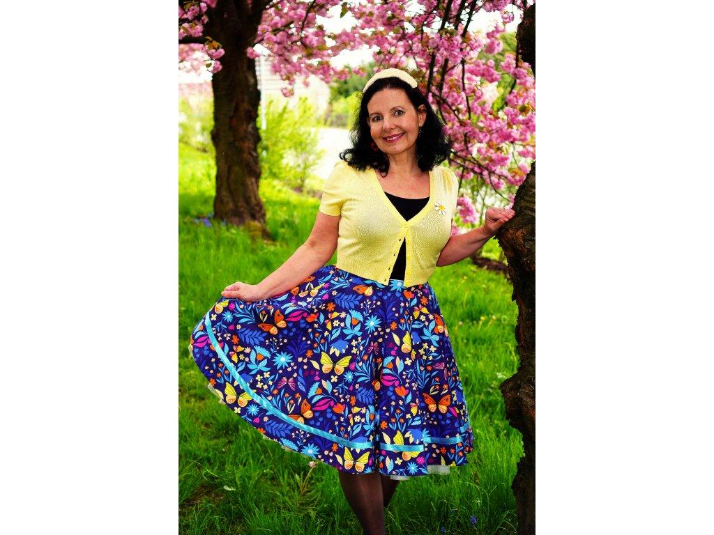 """Luxusní kolová sukně """"Happiness"""" vel.42-44"""