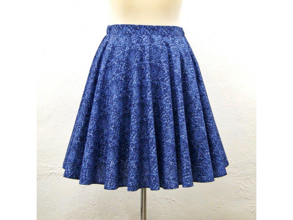 """Luxusní kolová sukně """"Blue pixels"""" vel.42-44"""