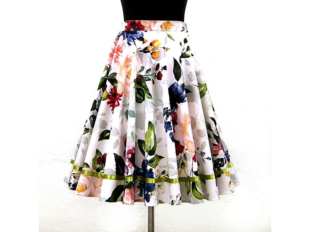 """Kolová sukně """"Roses"""" vel.38-40"""