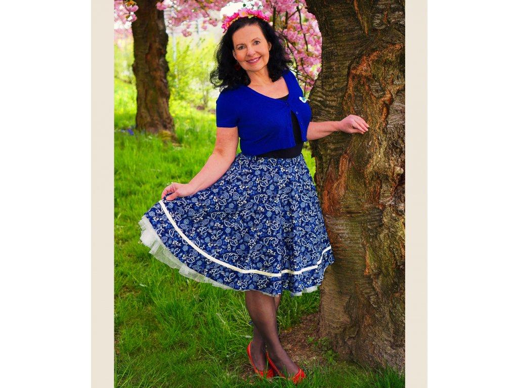 """Luxusní kolová sukně """"Paisley"""" vel.40-42"""