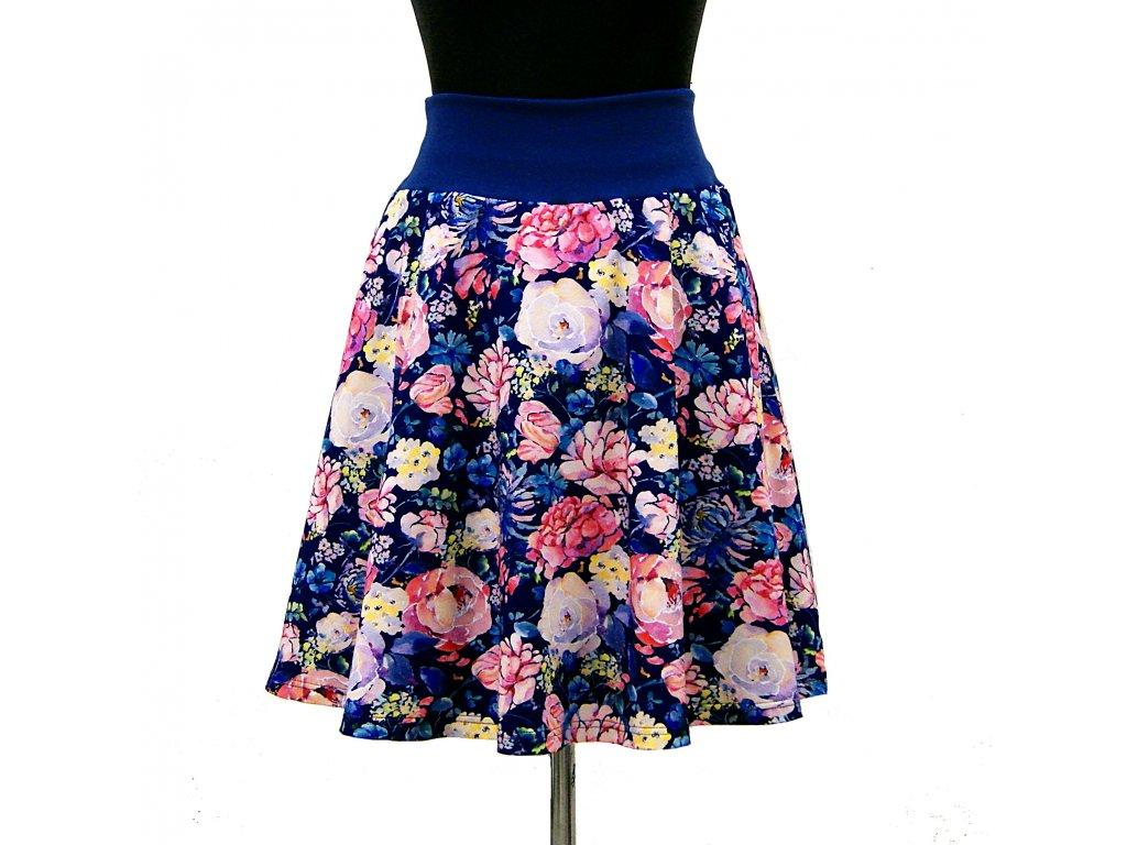 """Půlkolová sukně """"Flowering"""" vel.38-42"""