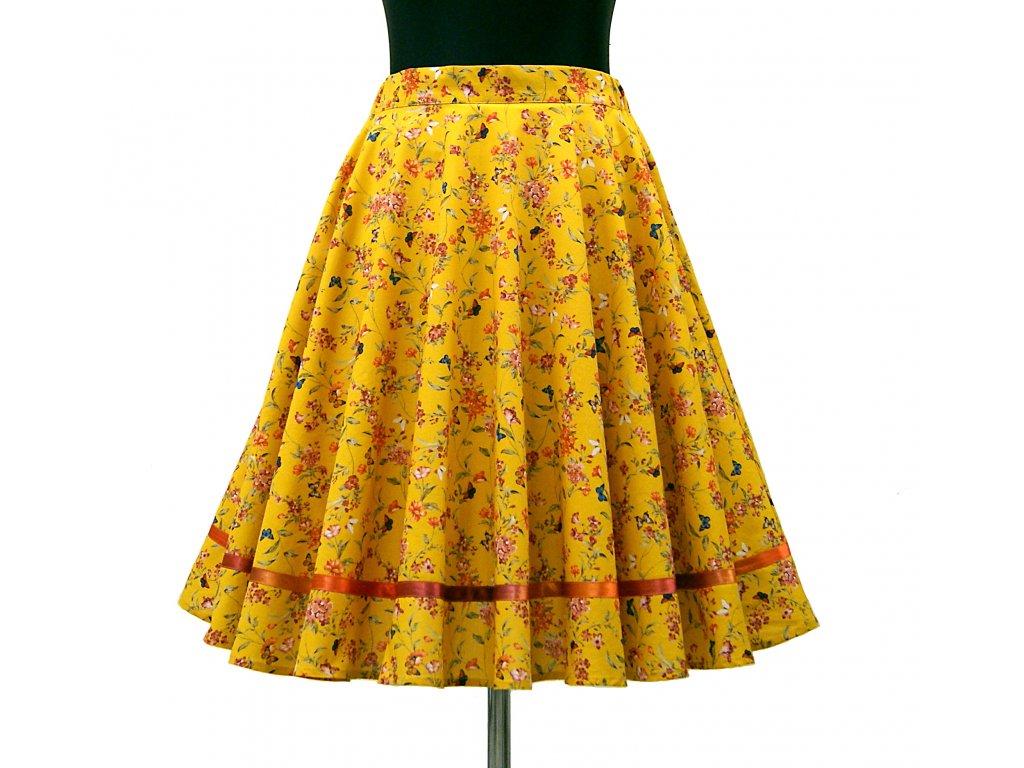 """Luxusní kolová sukně """"Botanical garden"""" vel.38-42"""