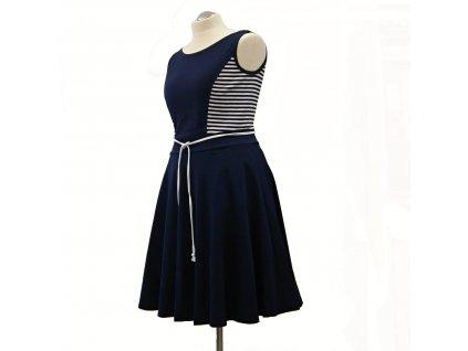 """Námořnické šaty """"Dona"""" modré - vel.42-44"""