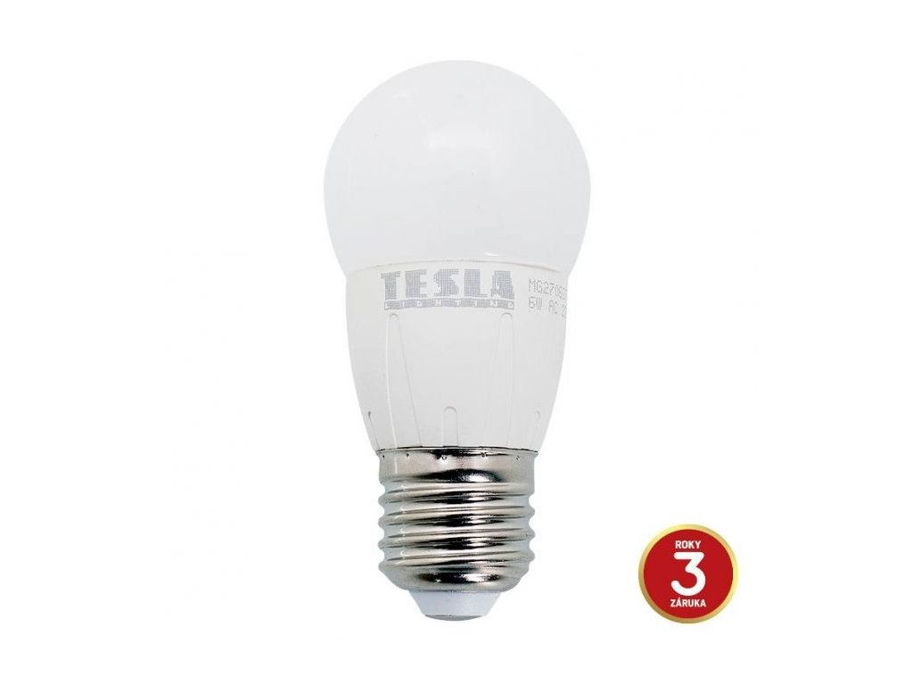 mg270627 5 tesla led zarovka mini bulb e27 6w 230v 0