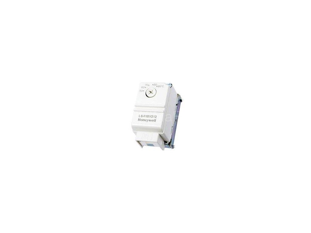 L641B1012 Honeywell Příložný termostat pro montáž na potrubí, rozsah 50 - 95 °C