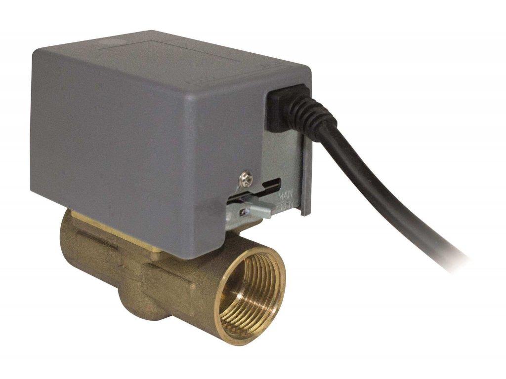 Dvoucestný ventil se servopohonem
