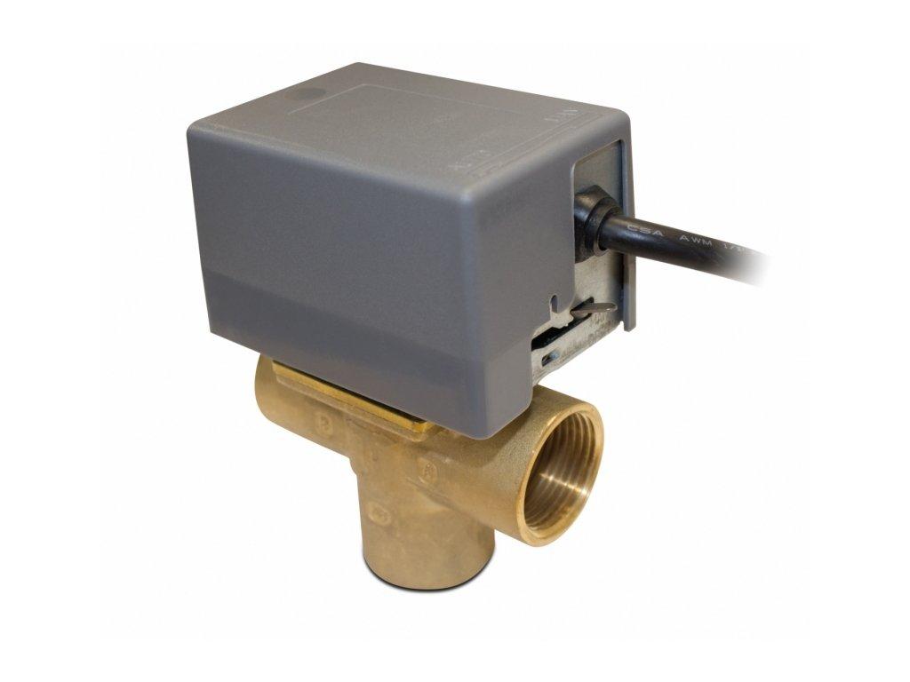 Trojcestný ventil se servopohonem