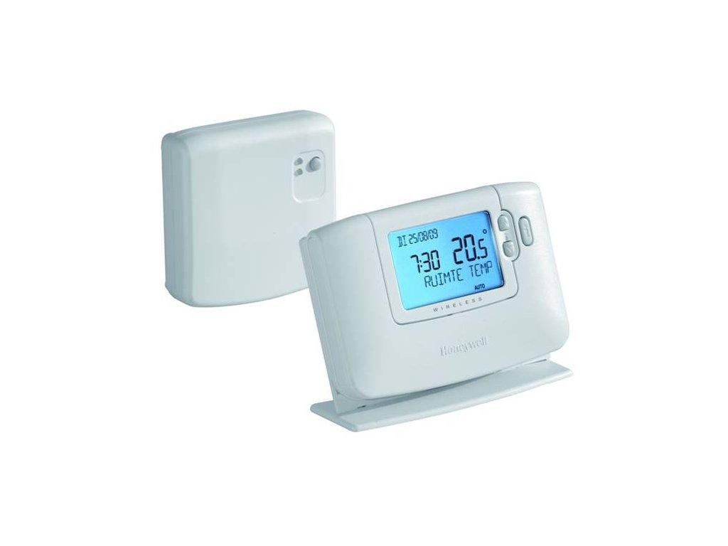 CM927 RF - Honeywell bezdrátový, prostorový, programovatelný termostat řady CMT927, s velkým podsvíceným displejem