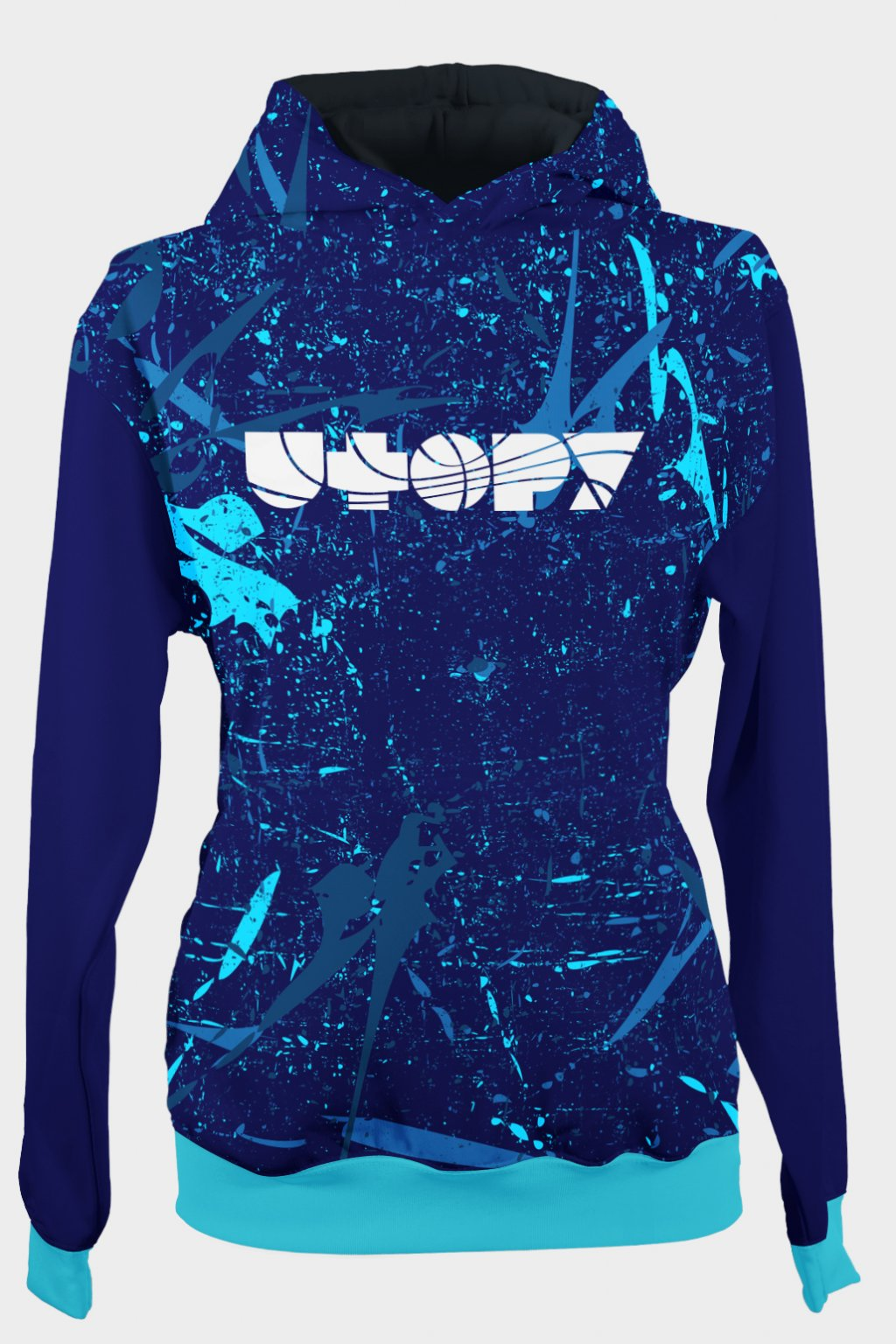 power of blues front hoodie by utopy