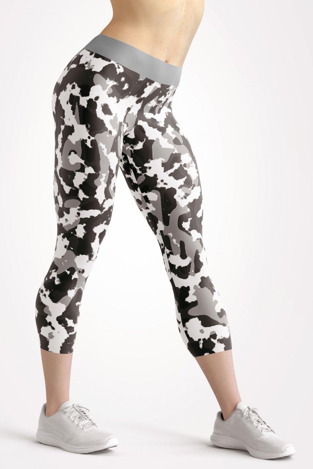 art of camo black front 3 4 leggings by utopy
