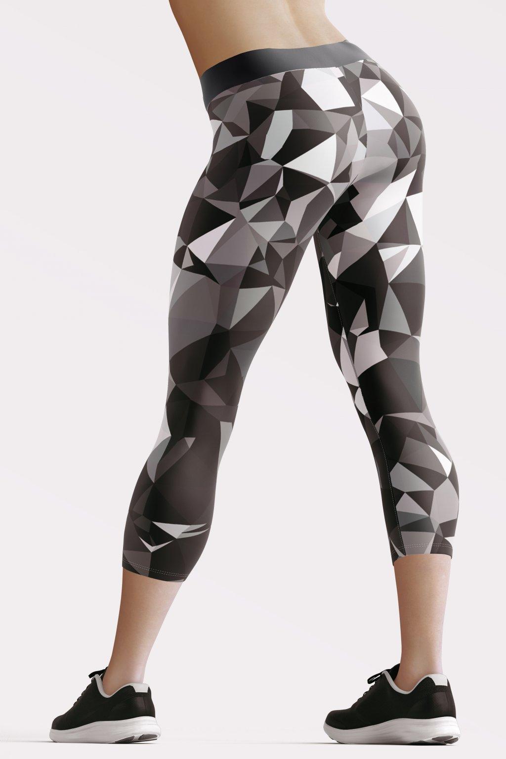 black crystal 3 4 leggings back by utopy