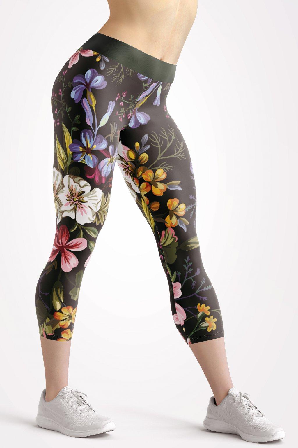 flower garden 3 4 leggings by utopy