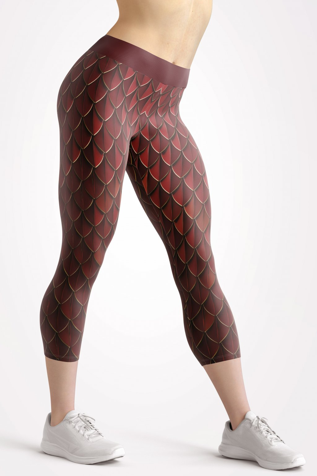 red shard 3 4 leggings front by utopy