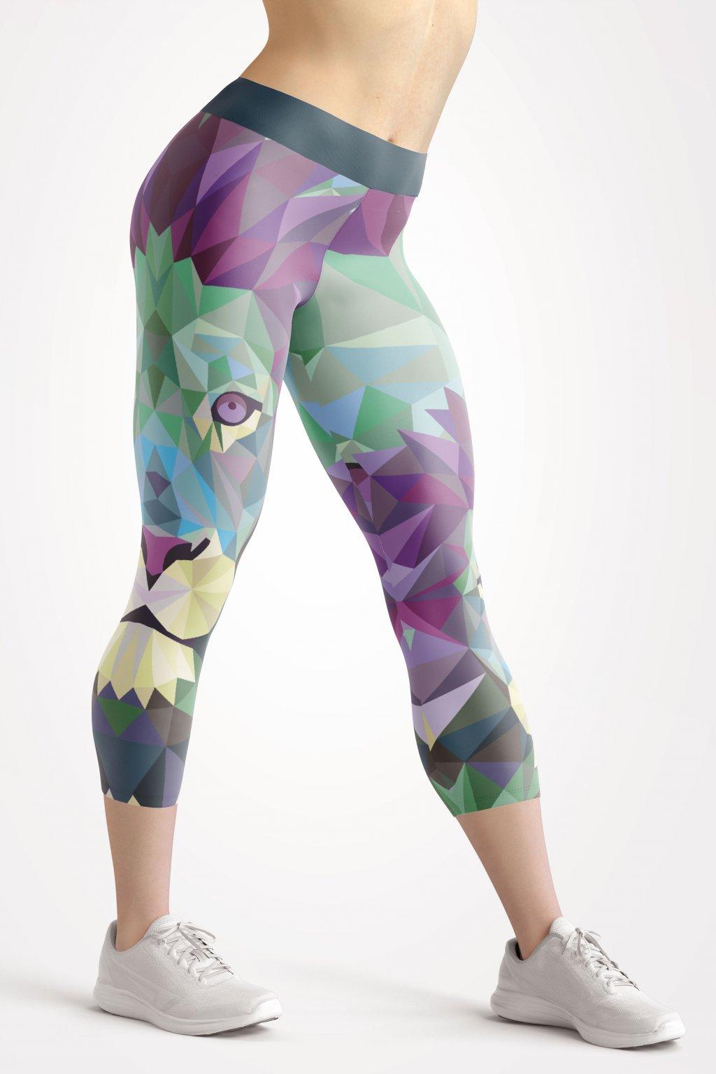 urban lion 3 4 leggings front by utopy