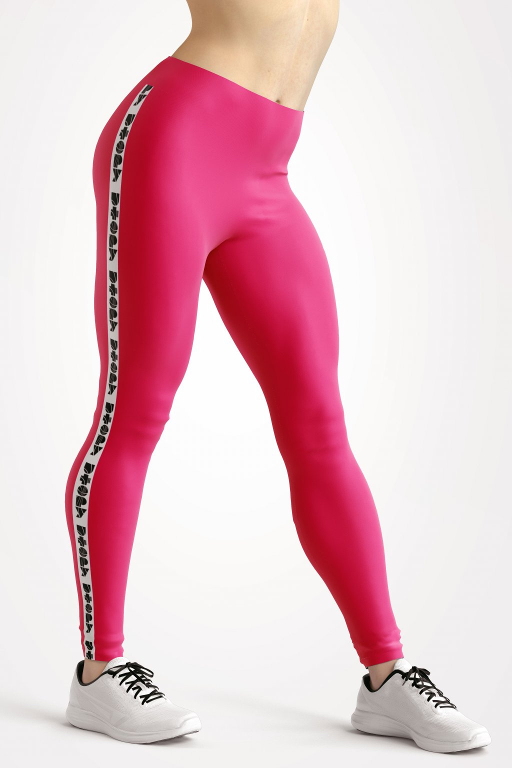 basic collection pink utopy leggings front by utopy v2