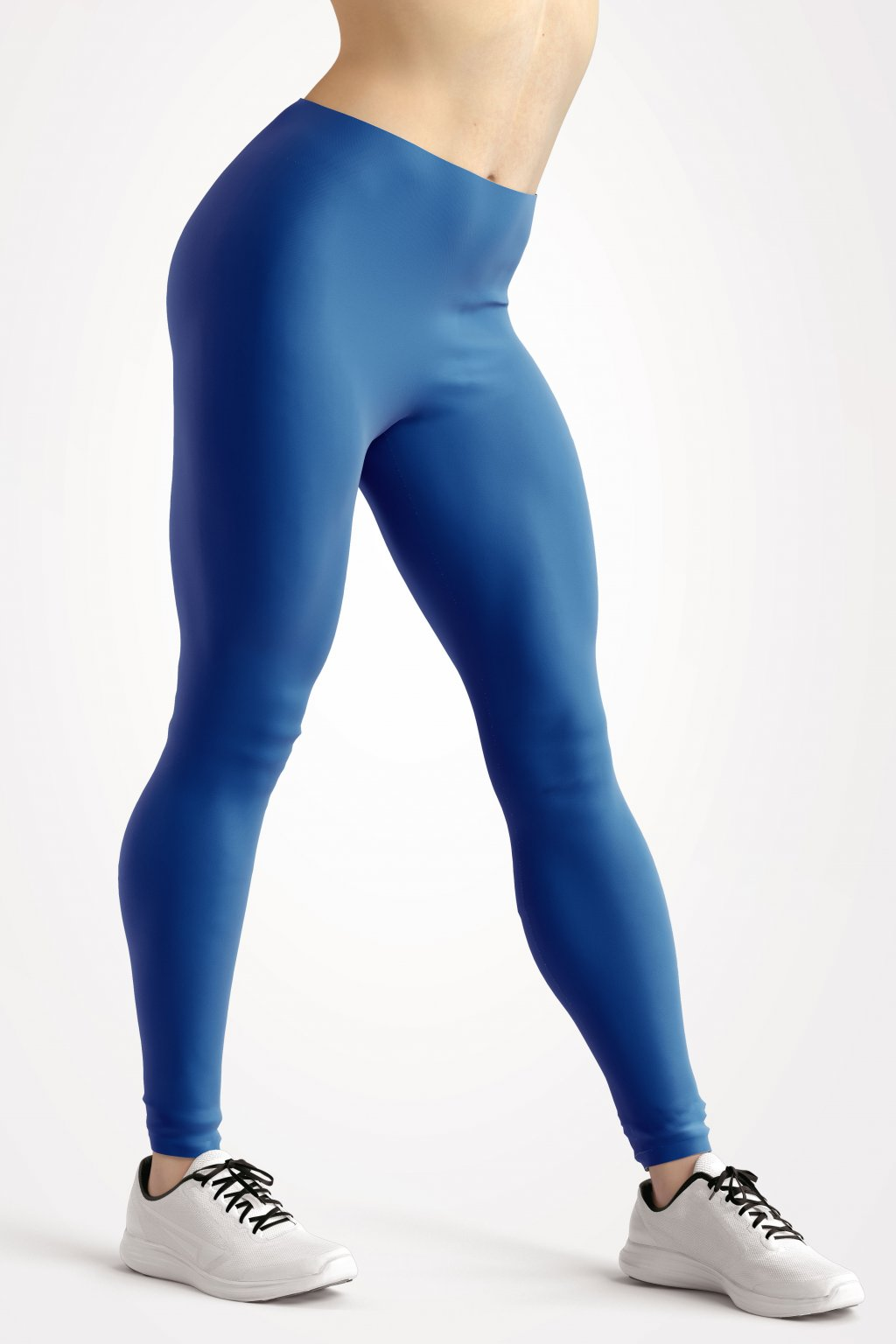 leggings sapphire blue essentials front side by utopy
