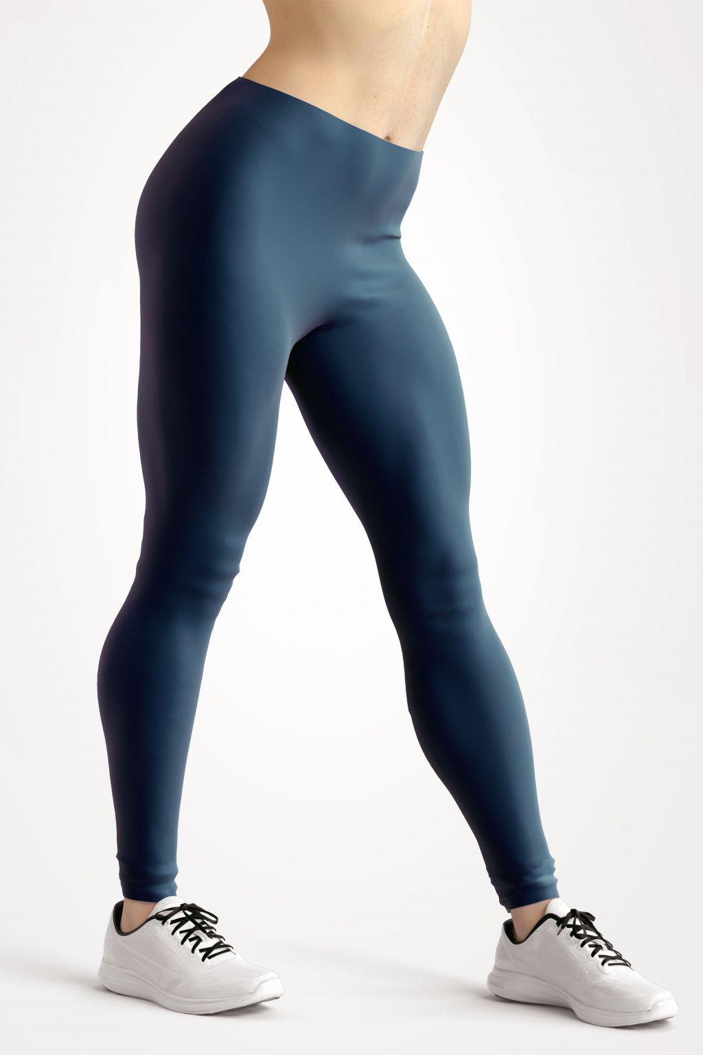 leggings petrol blue essentials front side by utopy
