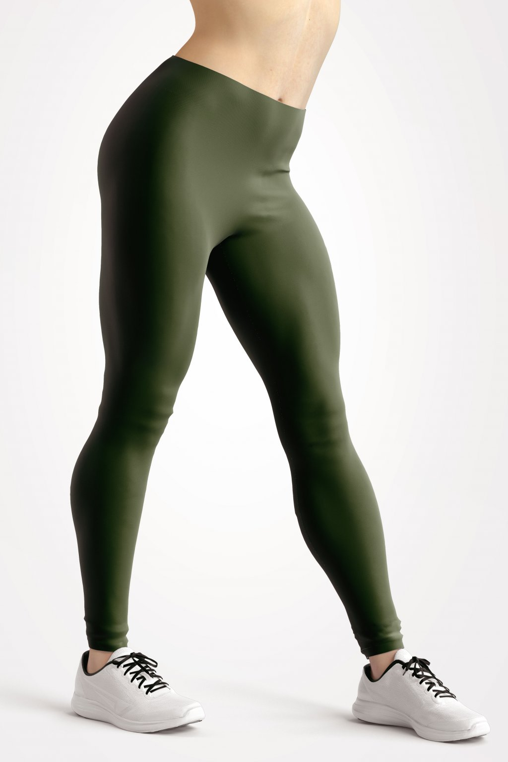 leggings hunter green essentials front side by utopy