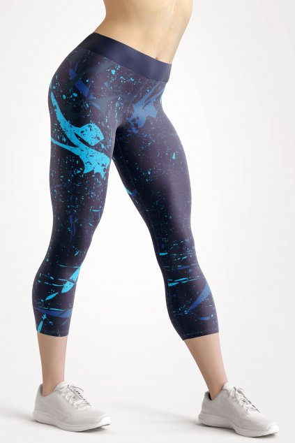 power of blues 3 4 leggings front by utopy
