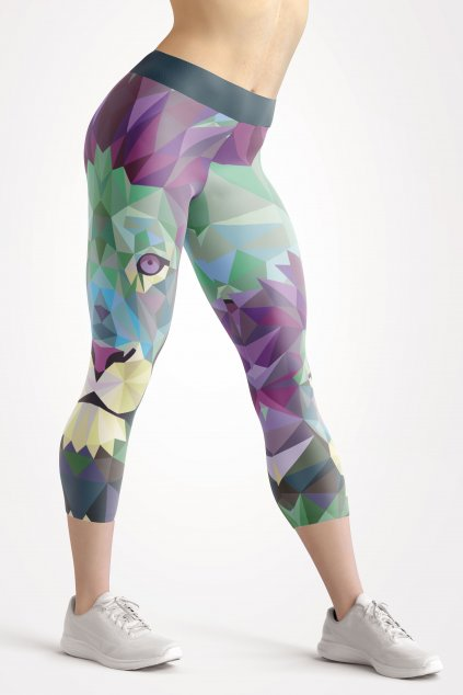 urban lion 3 4 leggings front by utopy
