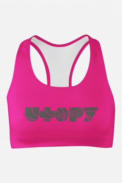 podprsenka basic collection pink utopy front by utopy