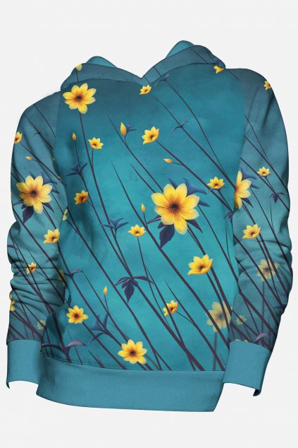 mikina yellow aster front fullprint by utopy