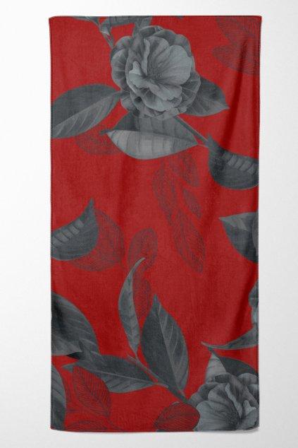 Beach Towel with Decorative Trim
